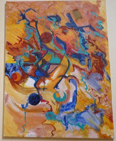 Der Urvogel im Märchenwald... Acryl auf Leinwand ca. 50x70cm